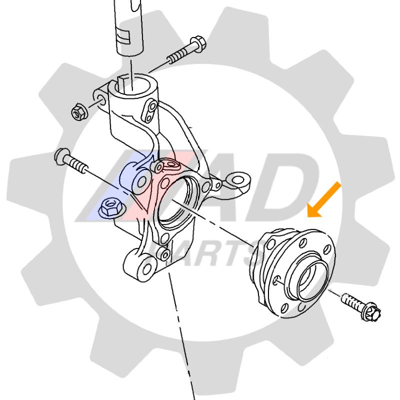 Cubo de Roda Dianteira VW Golf 2014 até 2019 disco de freio de 288mm