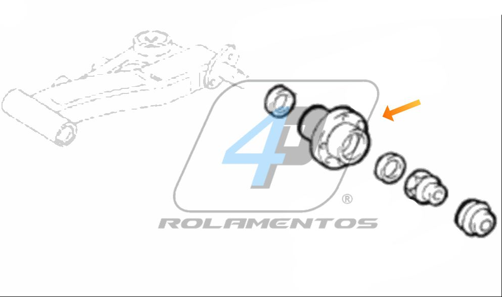 Cubo de Roda Traseira ALFA ROMEO 145 1994 até 1996, com ABS