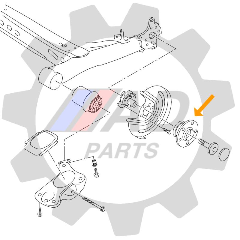 Cubo de Roda Traseira AUDI TT 1999 até 2006