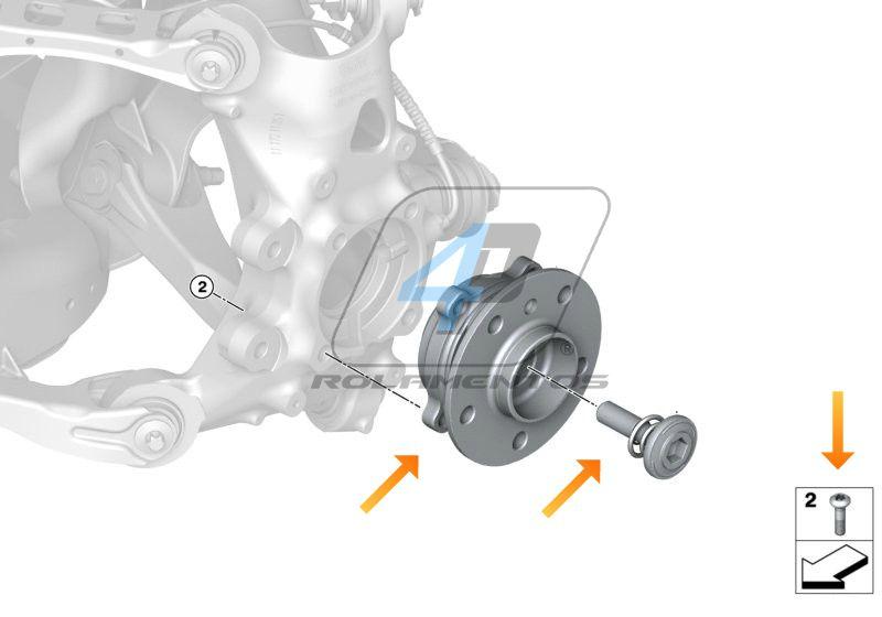 Cubo de Roda Traseira BMW i3 de 2013 até 2020