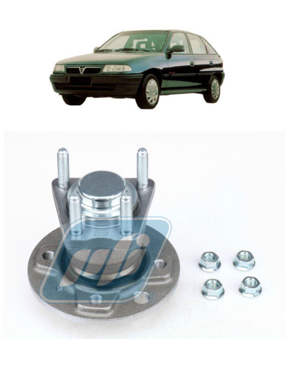 Cubo de Roda Traseira CHEVROLET Astra 1995-1997, sem ABS, 4 Furos