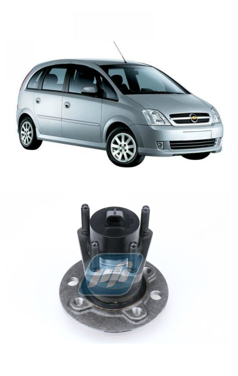 Cubo de Roda Traseira CHEVROLET Meriva (1.8L) 2003 até 2013, com ABS, 4 Furos