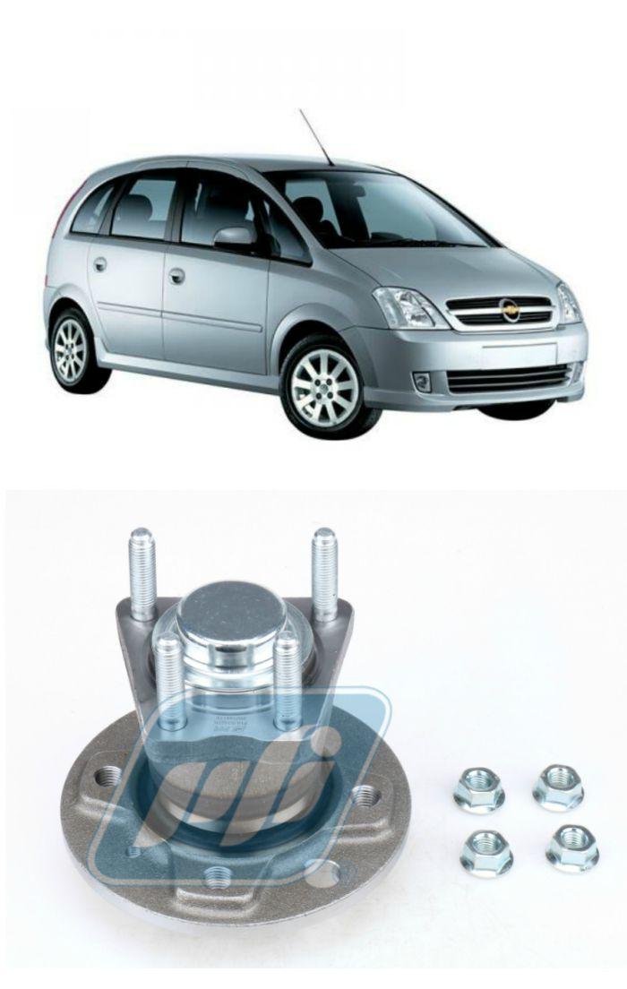 Cubo de Roda Traseira CHEVROLET Meriva 2003-2012, sem ABS, 4 Furos
