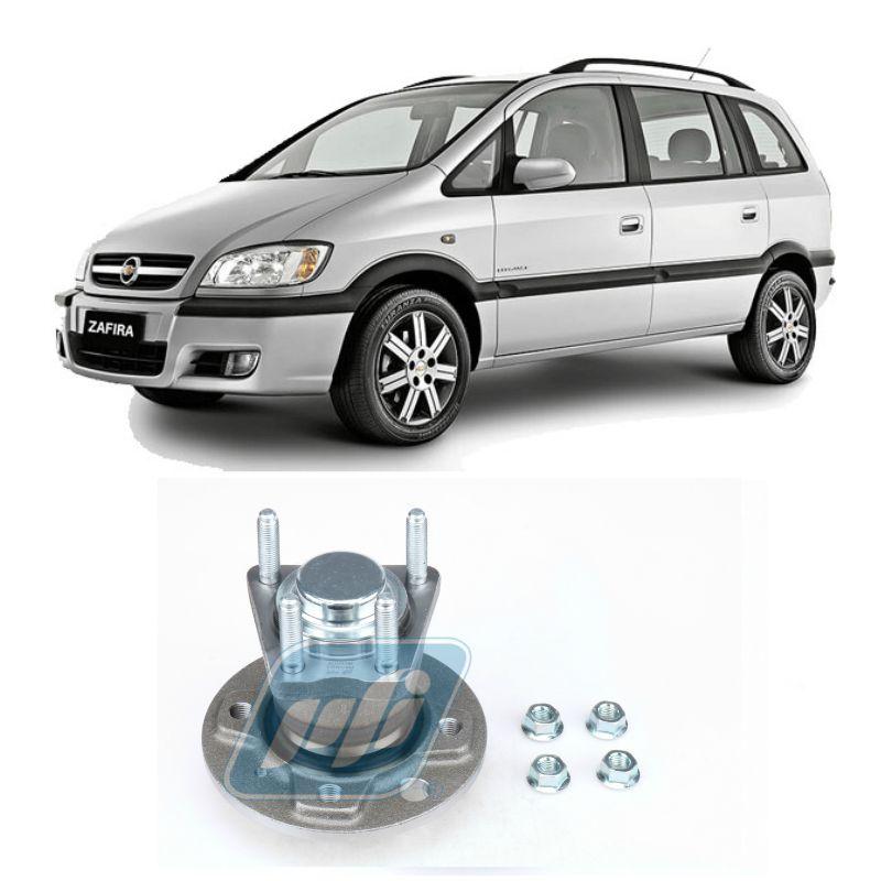 Cubo de Roda Traseira CHEVROLET Zafira 2001 até 2012 sem ABS, 4 Furos