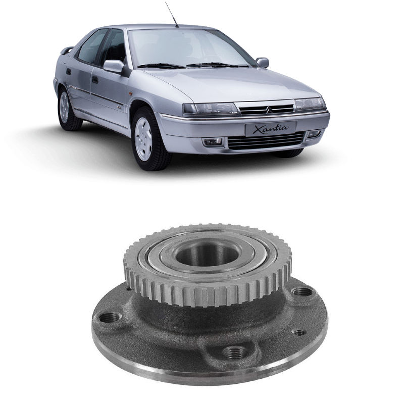 Cubo de Roda Traseira CITROEN Xantia 1993 até 2003 com ABS