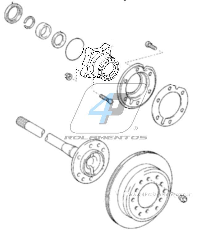 Cubo de Roda Traseira Direita TOYOTA FJ Cruiser 2007 até 2014