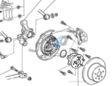 Cubo de Roda Traseira Esquerda TOYOTA Camry 2002 até 2011