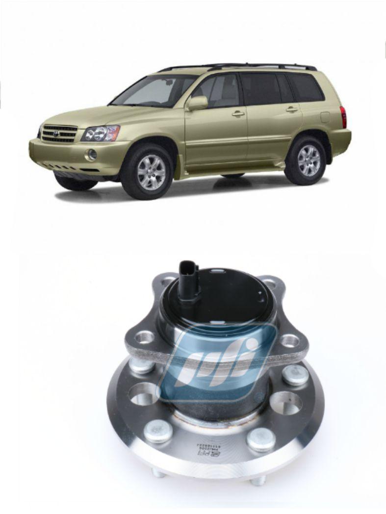 Cubo de Roda Traseira Esquerda TOYOTA Highlander 2001 até 2003 FWD 4x2