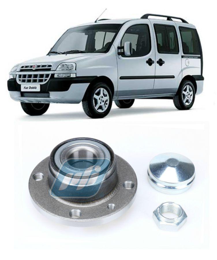 Cubo de Roda Traseira FIAT Doblo 2001-2014, sem ABS