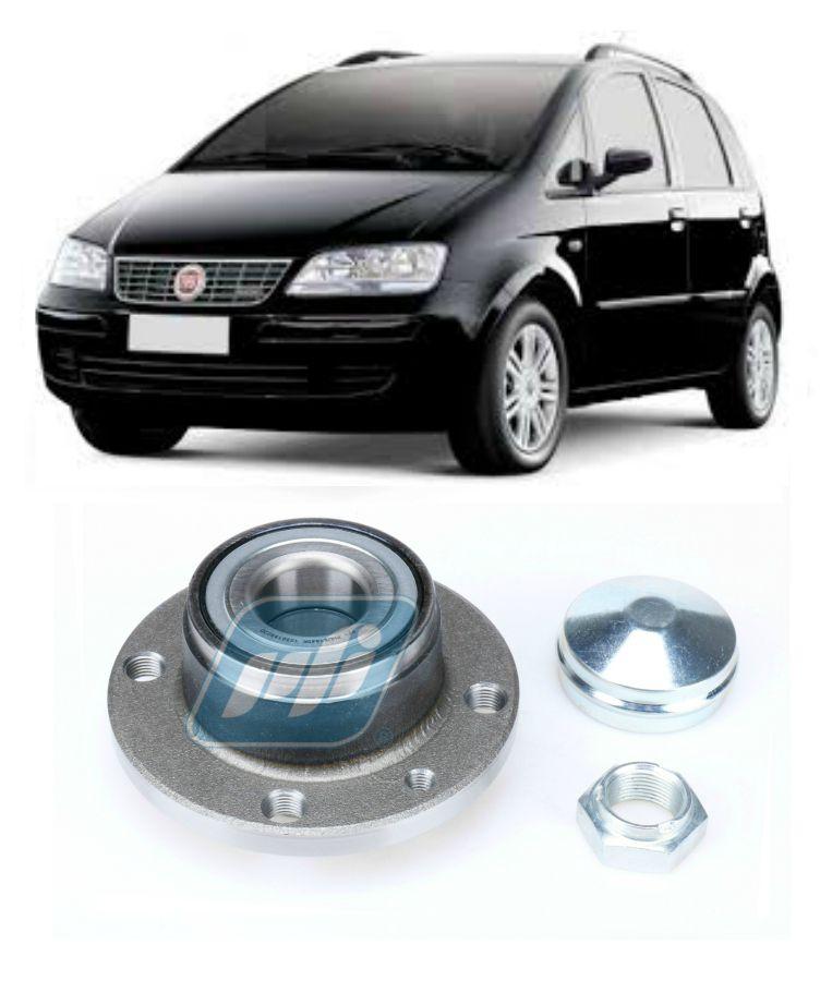 Cubo de Roda Traseira FIAT Idea 2005-2014, sem ABS