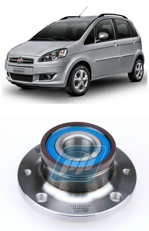 Cubo de Roda Traseira FIAT Idea 2007 até 2015 com ABS