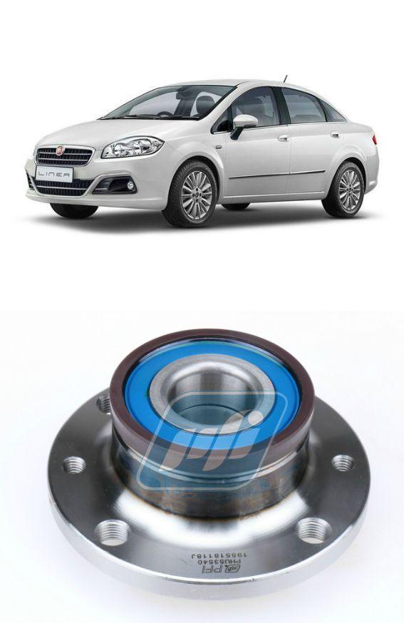Cubo de Roda Traseira FIAT Linea 2009 até 2015 com ABS