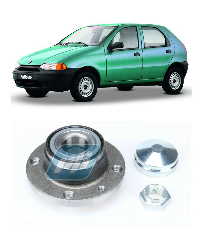 Cubo de Roda Traseira FIAT Palio 1996-2002, sem ABS