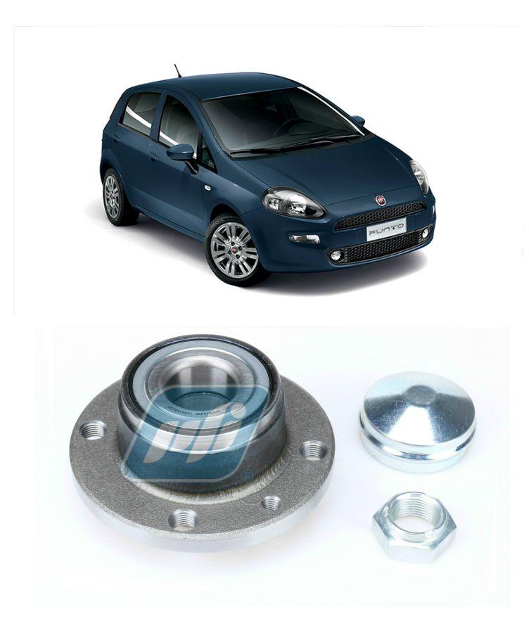 Cubo de Roda Traseira FIAT Punto 2007 até 2014, sem ABS