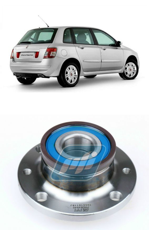 Cubo de Roda Traseira FIAT Stilo 2002-2011 com ABS