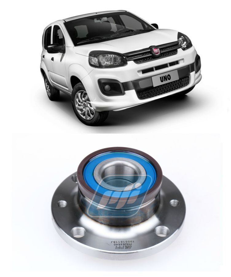 2450755dd Cubo de Roda Traseira FIAT Uno 2010-2019 com ABS - 4P Rolamentos ...