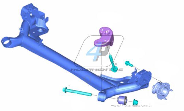 Cubo de Roda Traseira FORD Ecosport 2012 até 2019
