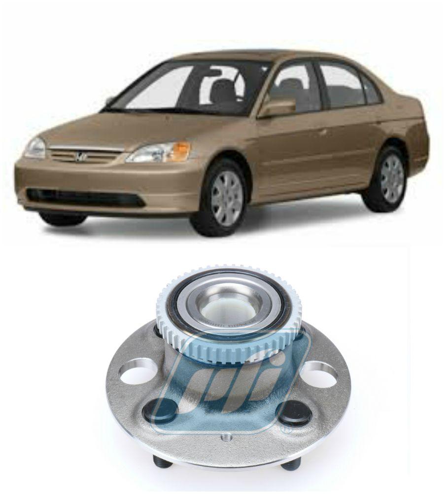 Cubo de Roda Traseira HONDA Civic 2001-2005, freio a Disco com ABS