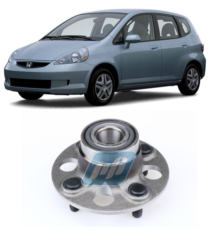 Cubo de Roda Traseira HONDA Fit 2002-2008, freio a tambor e sem ABS.