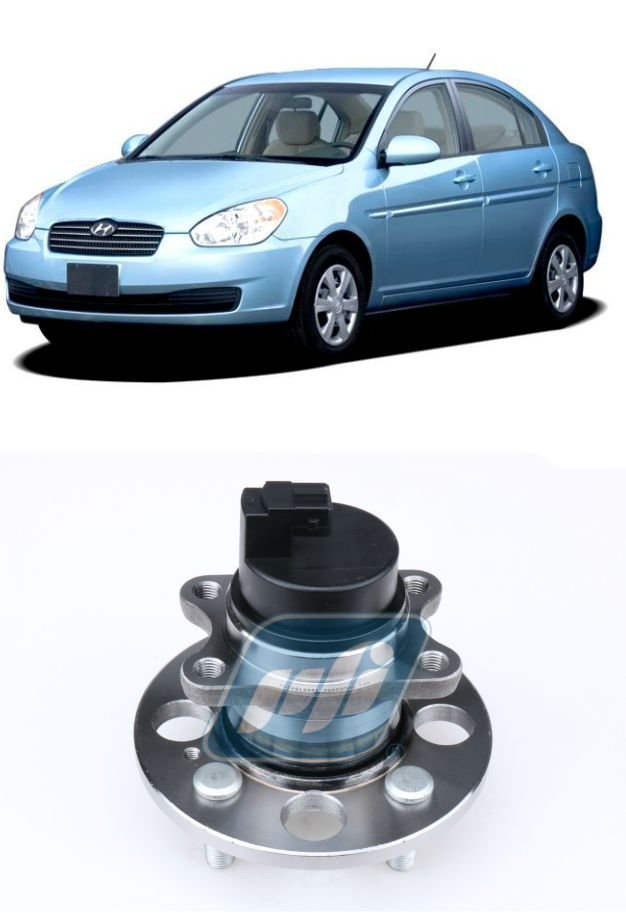Cubo de Roda Traseira HYUNDAI Accent 2006-2011 com ABS