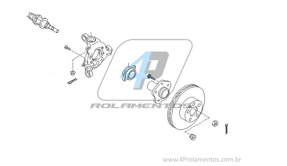 Cubo de Roda Traseira INFINITI FX35 2003 até 2008