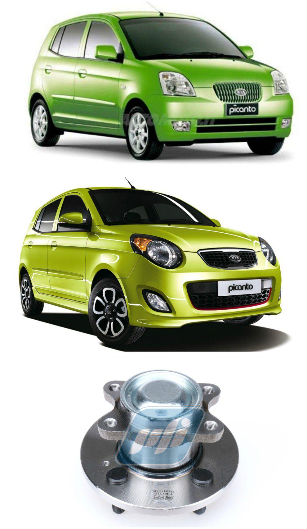 Cubo de Roda Traseira KIA Picanto 2005-2011, sem ABS