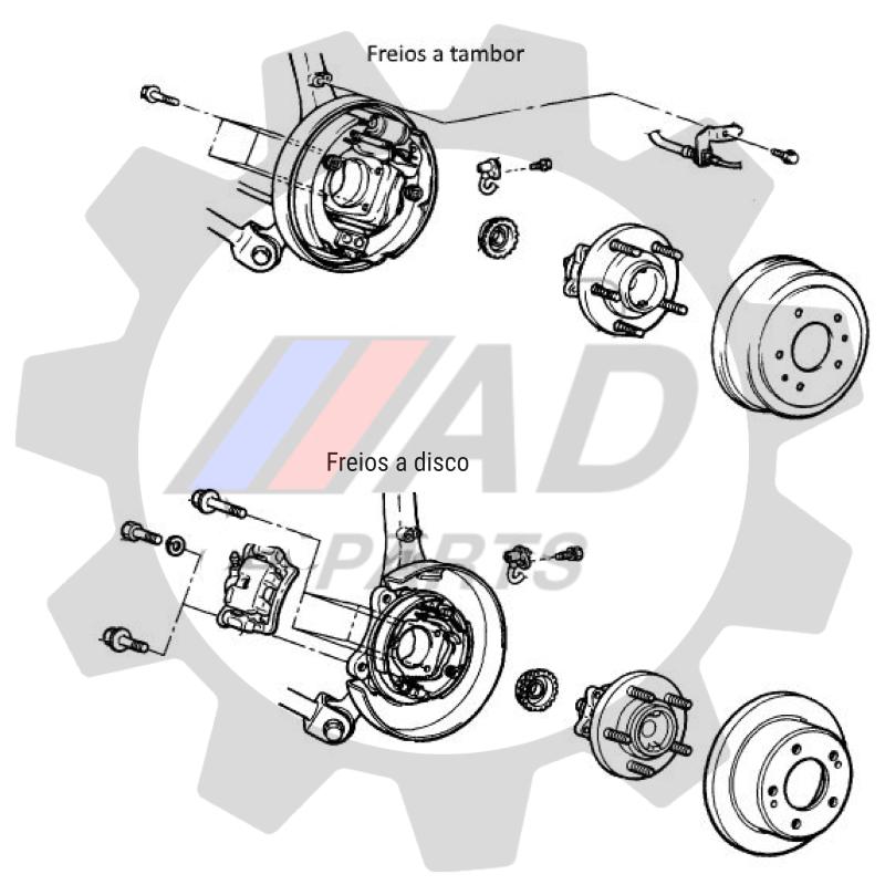 Cubo de Roda Traseira KIA Sorento 2010 até 2015 FWD com ABS