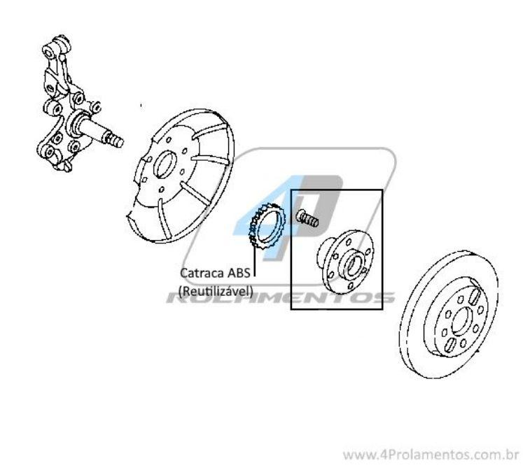Cubo de Roda Traseira MAZDA Protege 1990 até 2003, com freio a tambor