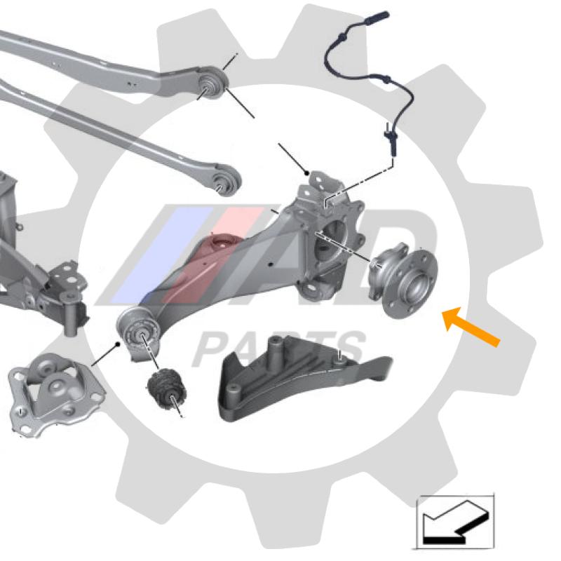 Cubo de Roda Traseira Mini Cooper 2006 até 2013, com ABS