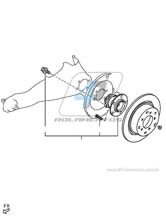 Cubo de Roda Traseira Mitsubishi ASX 2016 até 2020, AWD