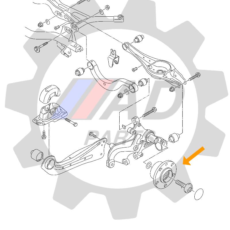 Cubo de Roda Traseira NISSAN Maxima 1989 até 1994, 5 furos