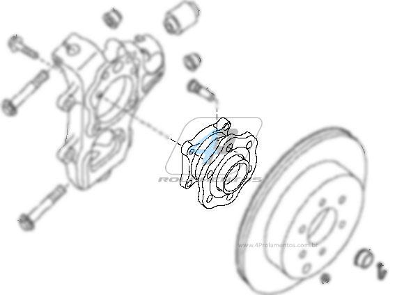 Cubo de Roda Traseira NISSAN Pathfinder 2005 até 2012