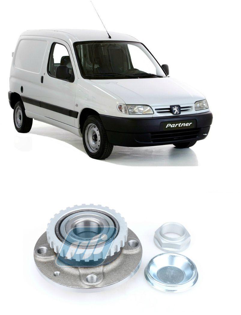 Cubo de Roda Traseira Peugeot Partner 1998-2005 com ABS