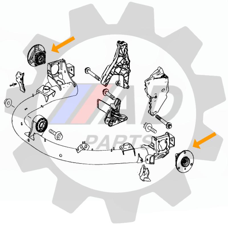 Cubo de Roda Traseira SMART Fortwo de 2004 até 2020