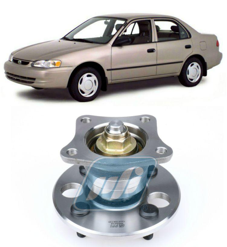 Cubo de Roda Traseira TOYOTA Corolla 1993-2002, sem ABS