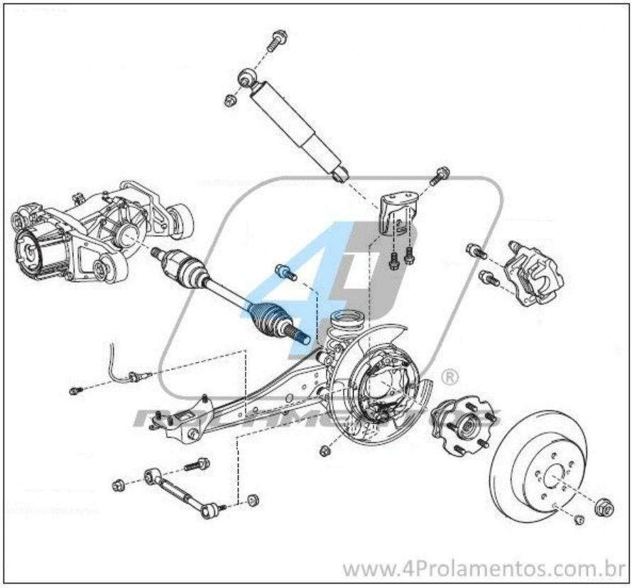 Cubo de roda Traseira TOYOTA  RAV4 (4x4) 2006-2018