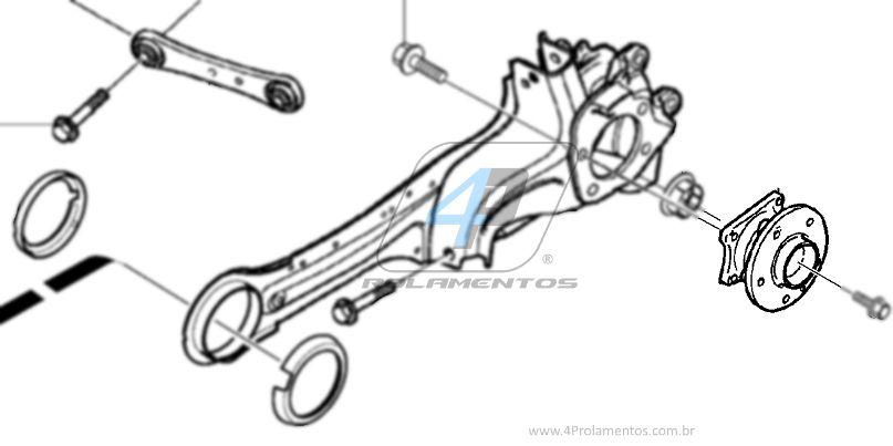 Cubo de Roda Traseira VOLVO S80 2006 até 2015 AWD