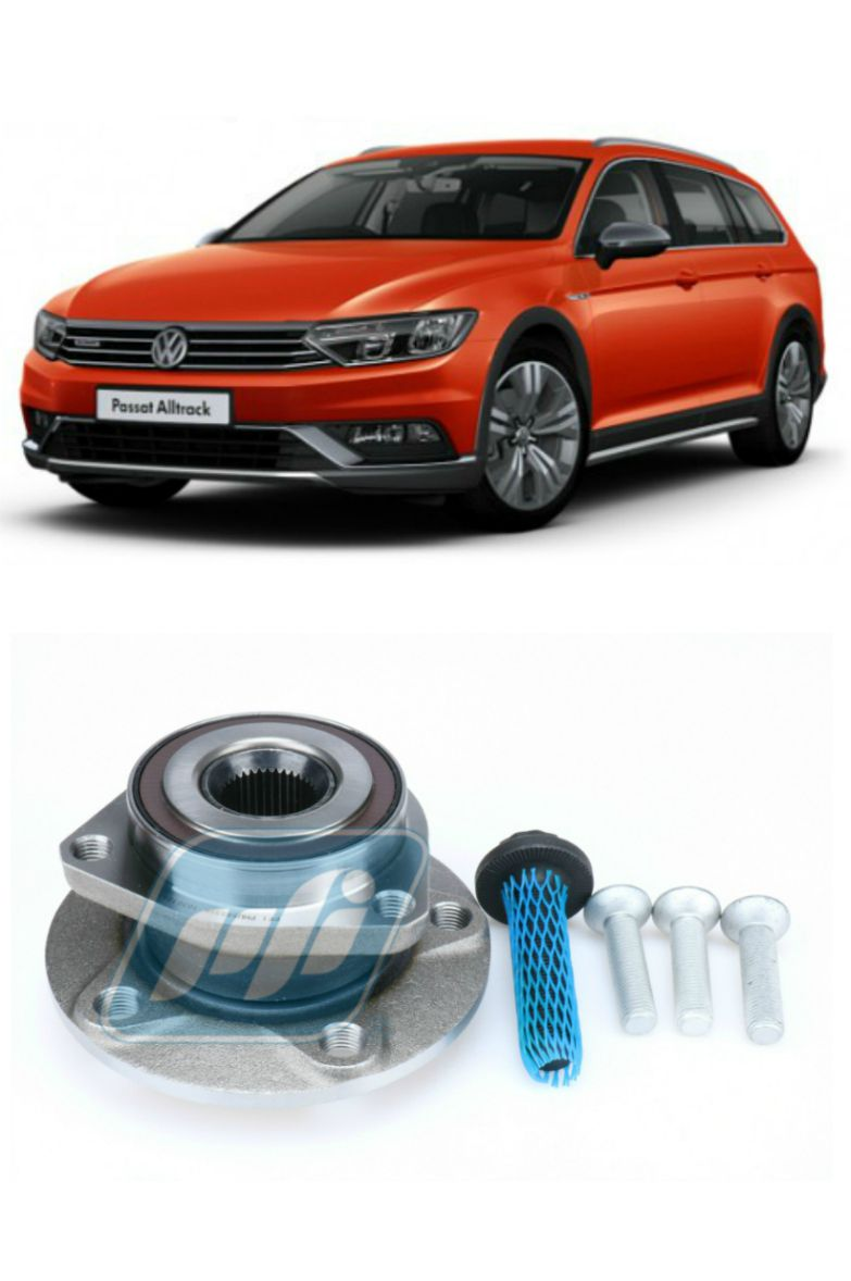 Cubo de Roda Traseira VW Passat Alltrack (4motion), AWD, 2015-2018, com ABS
