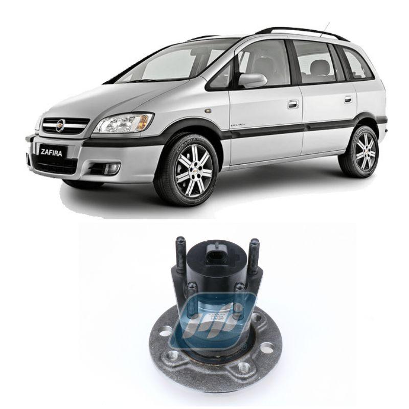 Cubo de Roda Traseira Zafira 2000 até 2001, com ABS, 4 Furos