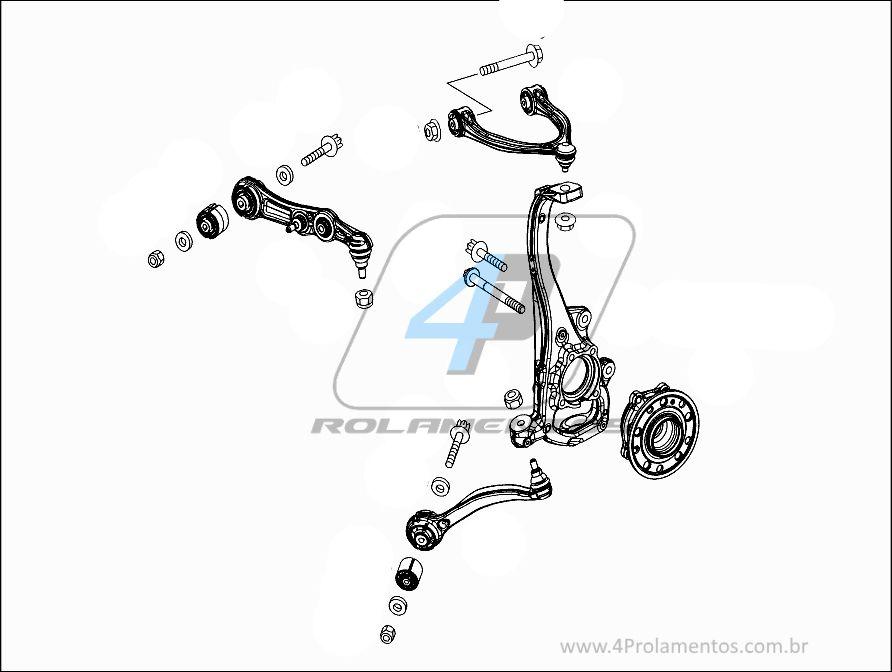 Cubo Roda Dianteira Mercedes Benz C300 de 2014 á 2019