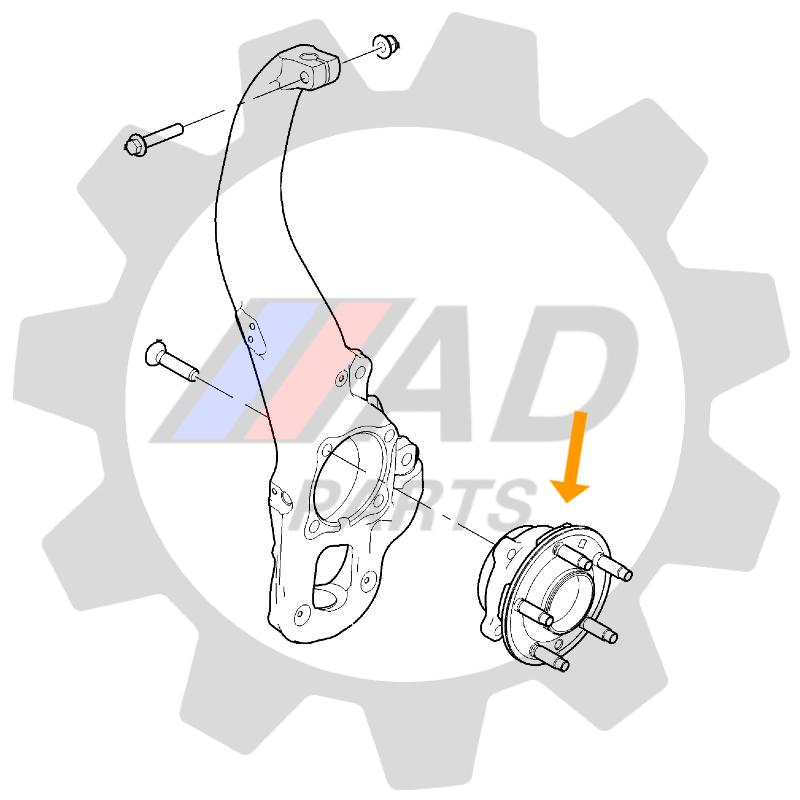Cubo Roda Dianteira Mercedes Benz ML350 de 2012 até 2019