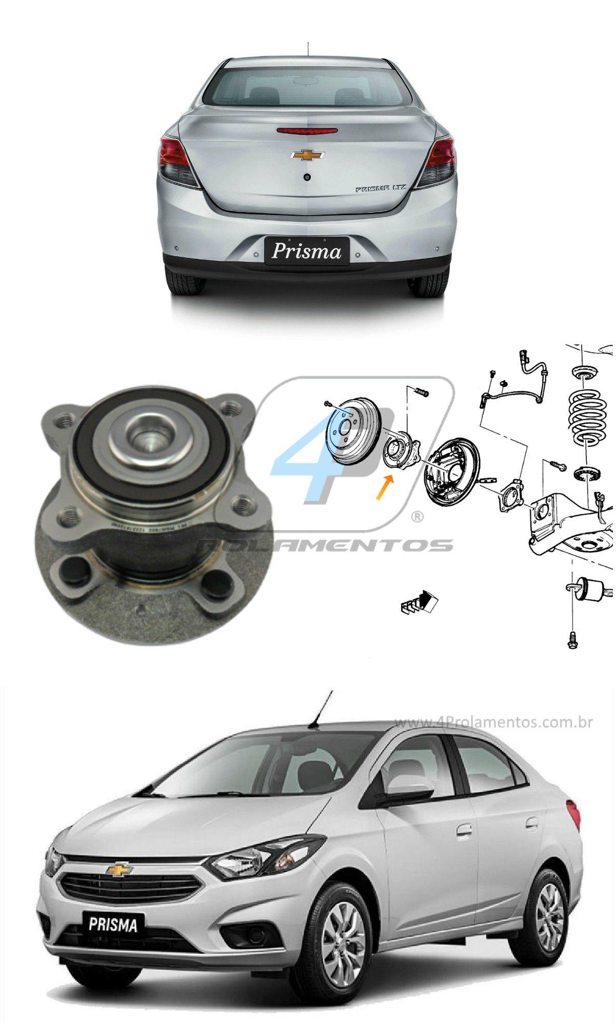 Cubo Roda Traseira CHEVROLET Prisma 2013-2017, com ABS
