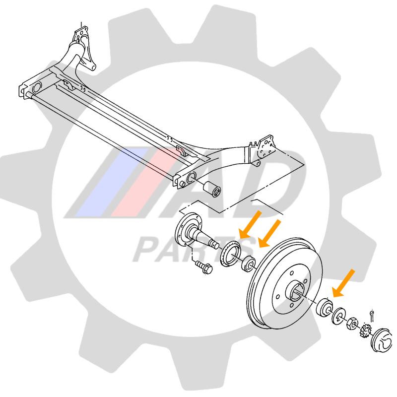 Kit Rolamentos de roda Traseira Fiesta 1995 até 2002