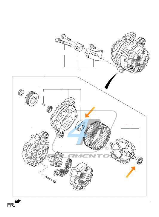 Rolamento Alternador Hyundai HB20 2012 até 2015