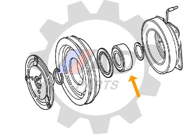 Rolamento Ar Condicionado Suzuki Grand Vitara 2006 até 2015