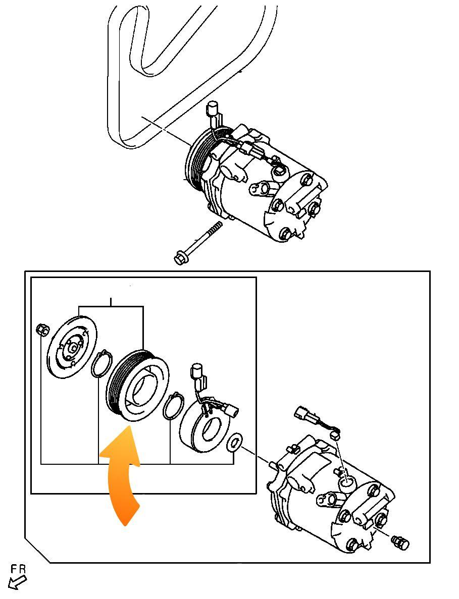 Rolamento Compressor AC Mitsubishi Lancer de 2008 até 2018