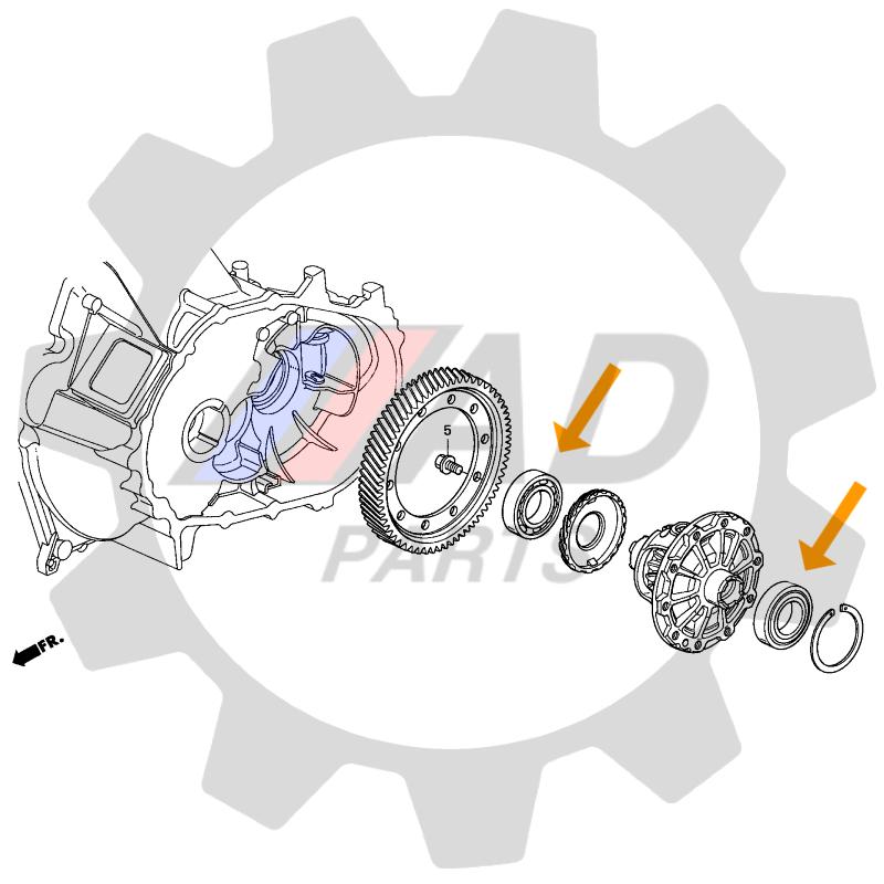 Rolamento Coroa Diferencial FIAT
