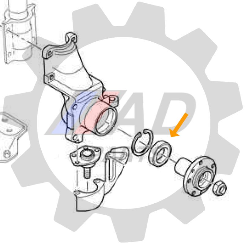 Rolamento da Roda Dianteira FIAT Ducato 1997 até 2017, aro 15´