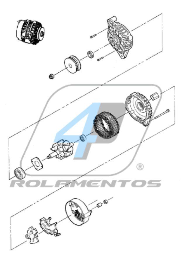 Rolamento de Alternador Mini Carregadeira Bobcat