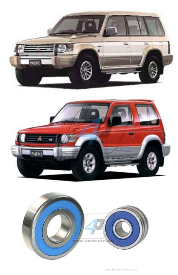 Rolamento de Alternador Mitsubishi Pajero 3.0 V6 de 1994 até 1996